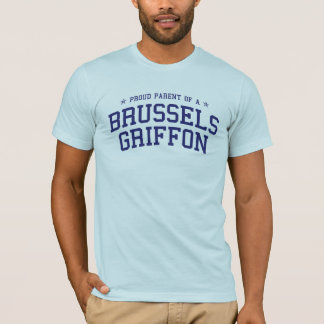 Parent fier d'un T-shirt de griffon de Bruxelles