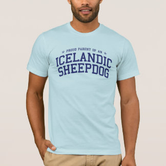 Parent fier d'un T-shirt islandais de chien de