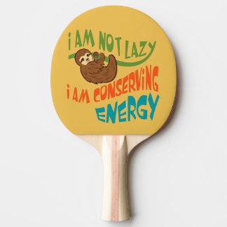 Paresse avec dire raquette de ping pong