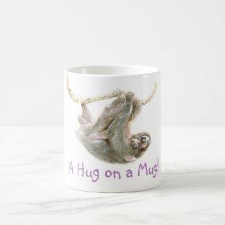 """Paresse, bébé avec la maman """"une étreinte sur une mug"""