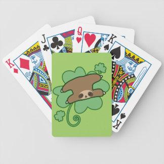 Paresse chanceuse de trèfle cartes à jouer