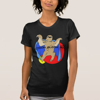 Paresse d'action colorée t-shirt