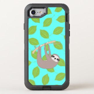 Paresse en nature coque otterbox defender pour iPhone 7