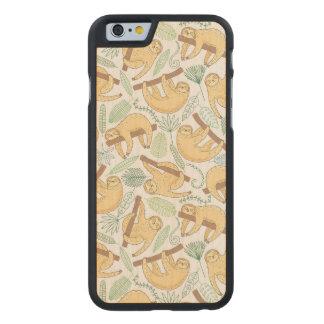 Paresses accrochantes coque carved® slim iPhone 6 en érable