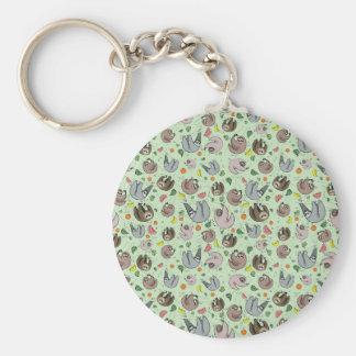 Paresses en vert porte-clés