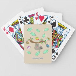 Paresses paresseuses d'étreinte - cartes de jeu jeu de cartes