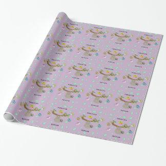 Paresses paresseuses d'étreinte - papier papier cadeau