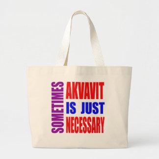 Parfois Akvavit est simplement nécessaire Sac En Toile Jumbo