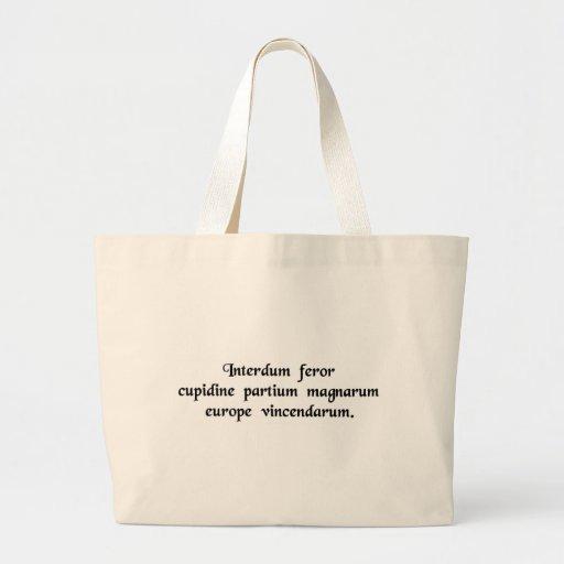 Parfois j'obtiens ce recommander de conquérir les  sacs de toile