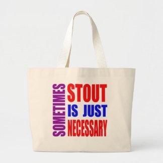 Parfois la bière de malt est simplement nécessaire sac fourre-tout