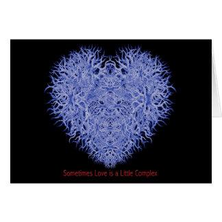 Parfois l'amour est peu un complexe carte de vœux