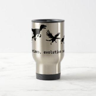 Parfois, l'évolution suce mug de voyage