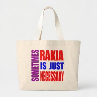 Parfois Rakia est simplement nécessaire Sac En Toile Jumbo
