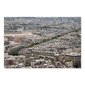 Paris, aplati impression photographique