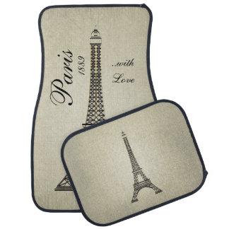 Paris avec amour tapis de voiture