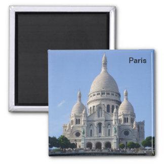 Paris - Basilique du Sacr�-Coeur - Magnet Carré