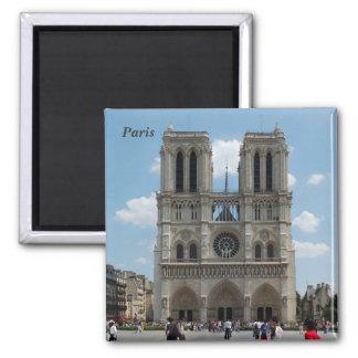 Paris - Cath�drale Notre-Dame - Magnet Carré