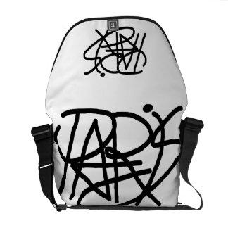 Paris écrivant le sac messenger noir sacoches