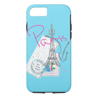 Paris, Eiffel+Tour, j'aime, cas de l'iPhone 7 Coque iPhone 7