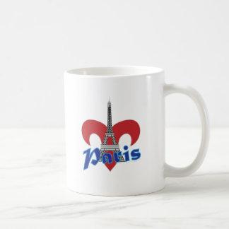 Paris Fleur de Lis Mug Blanc