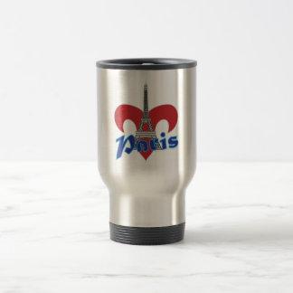 Paris Fleur de Lis Mug De Voyage En Acier Inoxydable