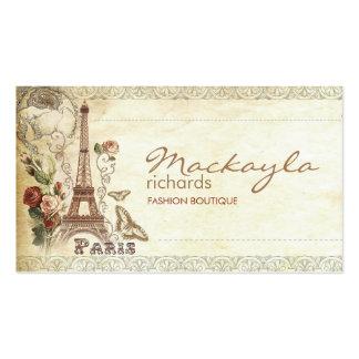 Paris floral vintage élégant carte de visite standard