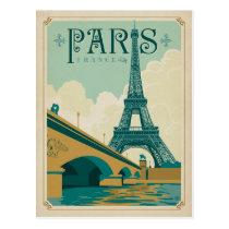 Paris France - Tour Eiffel Carte Postale
