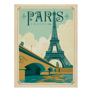 Paris France - Tour Eiffel Carte Postale