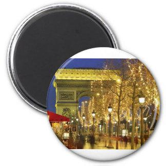 Paris--la France [kan.k] Magnet Rond 8 Cm