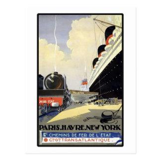 Paris Le Havre New York Carte Postale