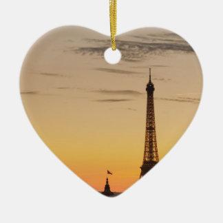 Paris Ornement Cœur En Céramique