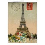 Paris Père Noël et carte de Noël de bonhomme de ne