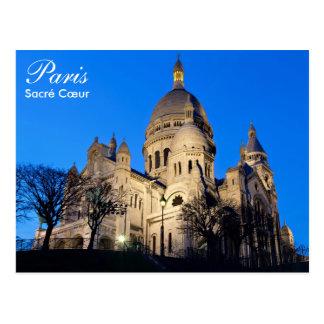 Paris - Sacré Cœur à la carte postale de nuit