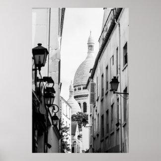 Paris Sacre-Coeur en noir et blanc Posters