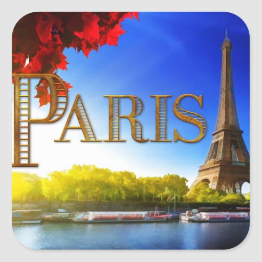 Paris sur la Seine Adhésif