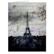 Paris texturisé en lavande carte de vœux