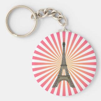 Paris : Tour Eiffel : Dessin de vecteur : Porte - Porte-clé Rond