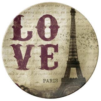 Paris vintage assiettes en porcelaine