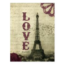Paris vintage carte postale