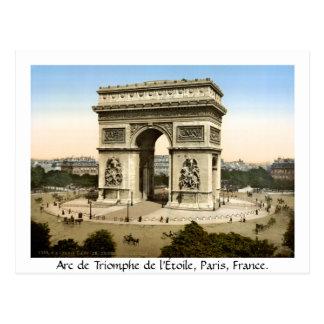 Paris vintage France, Arc de Triomphe Carte Postale