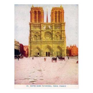 Paris vintage Notre Dame de Paris Carte Postale
