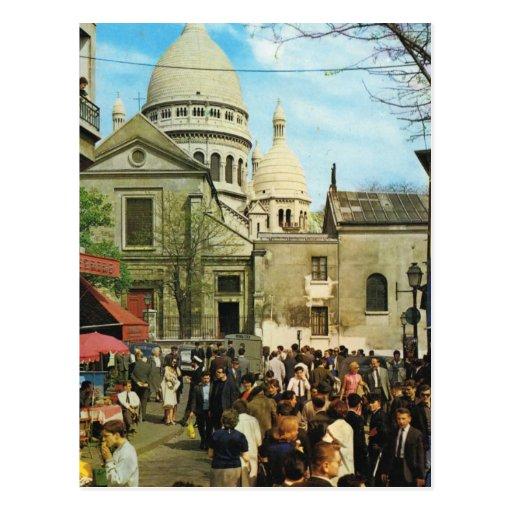 Paris vintage, Paris Montmatre, Place de Theatre Cartes Postales
