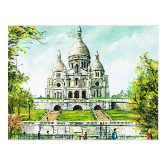 Paris vintage, Paris, Montmatre, Sacre Coeur Carte Postale