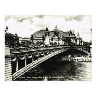 Paris vintage, Pont Alexandre III, Palais grand Carte Postale