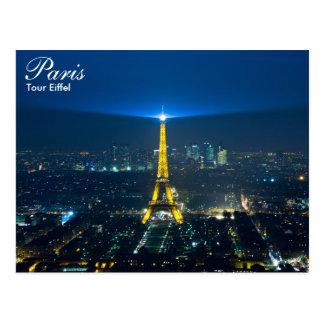 Paris - visite Eiffel à la carte postale de nuit