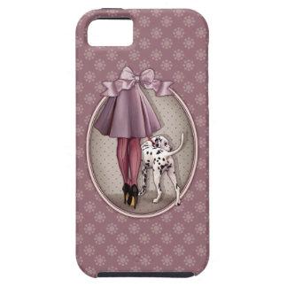 Parisienne et son dalmatien en promenade coque Case-Mate iPhone 5