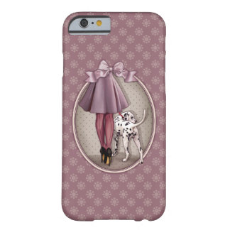 Parisienne et son dalmatien en promenade coque iPhone 6 barely there