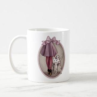 Parisienne et son dalmatien en promenade mug