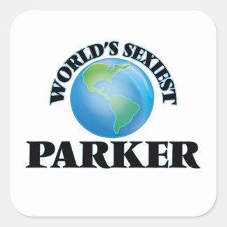 Parker le plus sexy du monde autocollant carré