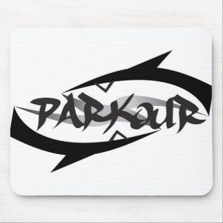 Parkour abstrait tapis de souris
